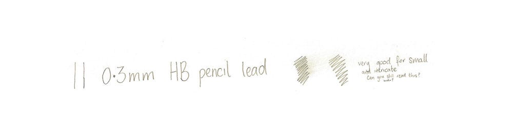 0.3mm lead writing