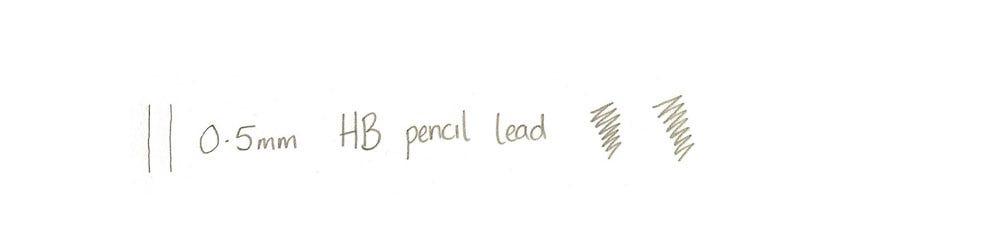 0.5mm lead writing