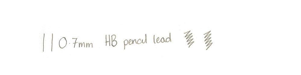 0.7mm lead writing