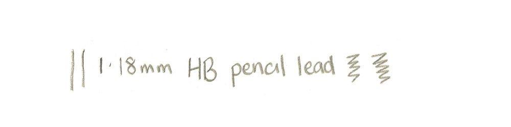 1.18mm lead writing