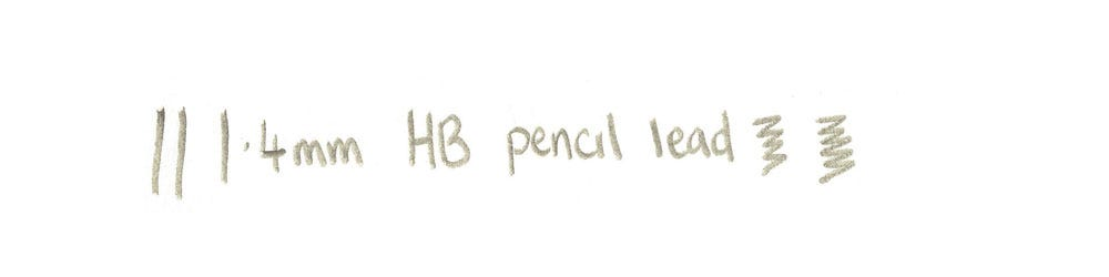1.4mm lead writing