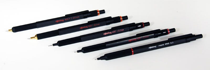 A Guide to Rotring Mechanical Pencils